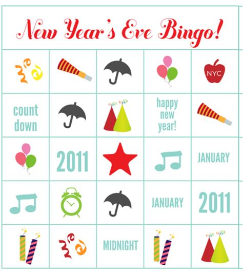 new year picture bingo 14 projects to celebrate 2014 family craft ideas work