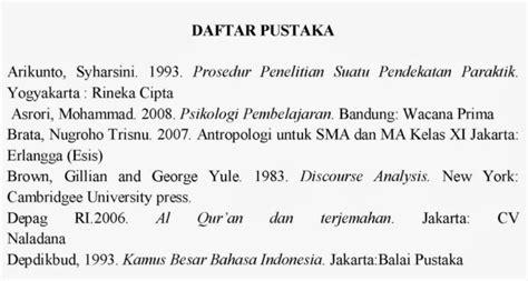 bahasa indonesia 1 8 abstrak dan daftar pustaka penulisan daftar pustaka hadits contoh penulisan daftar