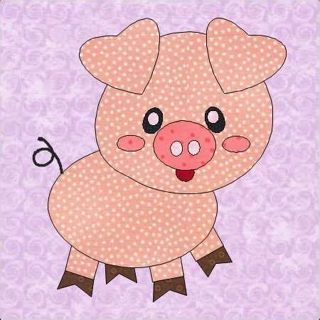 applique patterns pig appliqu 233 pattern pit pattern farm by