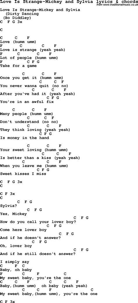 testo are strange song lyrics for is strange mickey and sylvia