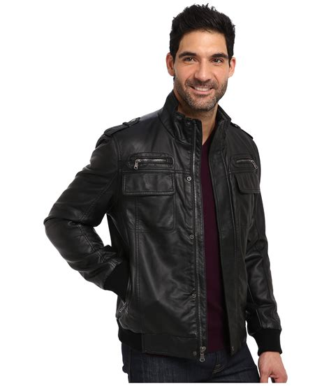faux leather bomber calvin klein faux leather bomber jacket cm499264 at zappos
