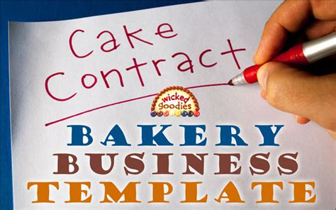 Wedding Cake Quotation Template by How To Write A Cake Contract