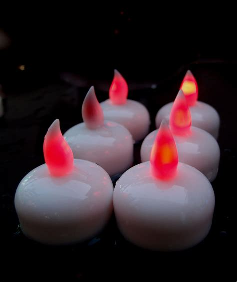 Waterproof Led Lights For Vases Floating Led Candle Light Red 6 Pack