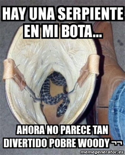 Woody Meme Generator - meme personalizado hay una serpiente en mi bota ahora