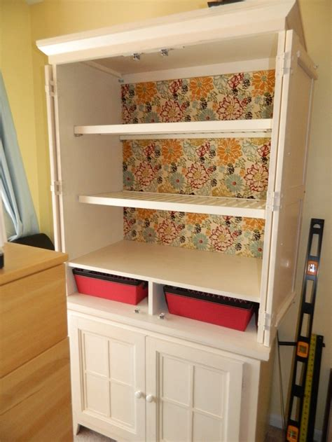 repurpose   tv armoire   wardrobe  projects