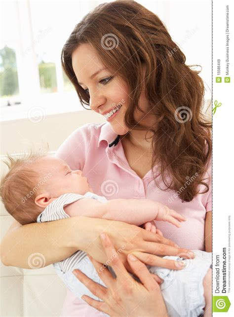 Ordinary Mother Daughter Home Plans #6: Close-up-affectionate-mother-cuddling-baby-boy-15586449.jpg