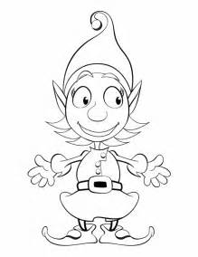 christmas elf colouring pages