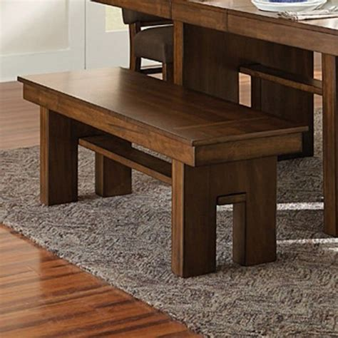 homelegance hedley contemporary dining bench with cut away