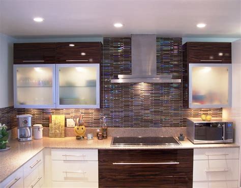 glass tile for backsplash in kitchen kitchen tile backsplash decosee
