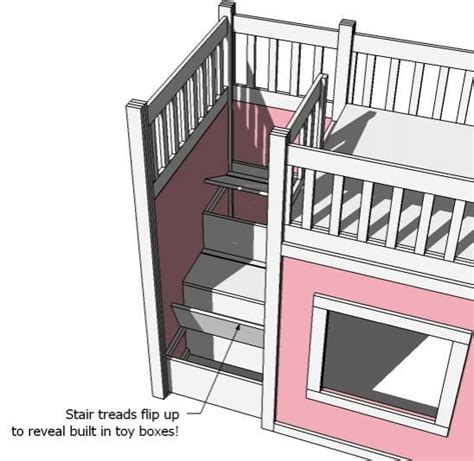 kura bed dimensions ana white s loft bed storage steps combine with her hack