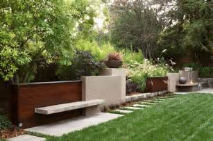 modern backyard design contemporary wall contemporary landscape other metro