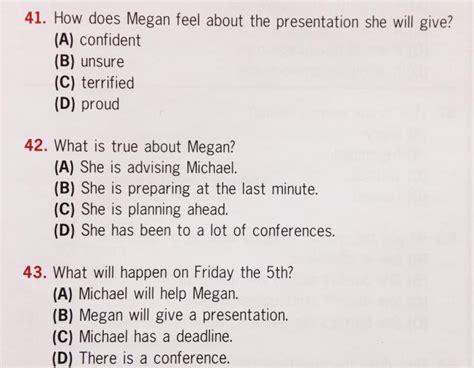 preguntas con you have 191 c 243 mo es la prueba listening de toeic capman