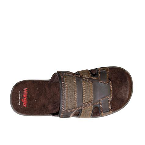 slide on slippers wrangler mens slide sandal flip flop slip on slipper