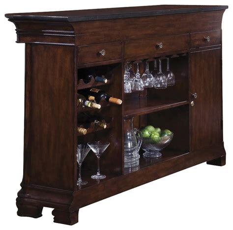 accents bar cabinet with foot rail contemporary wine