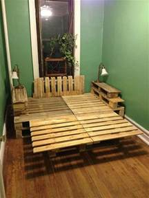 How To Make A Pallet Bed Frame 9 Ways To Create Bed Frames Out Of Used Pallet Wood Pallet Furniture