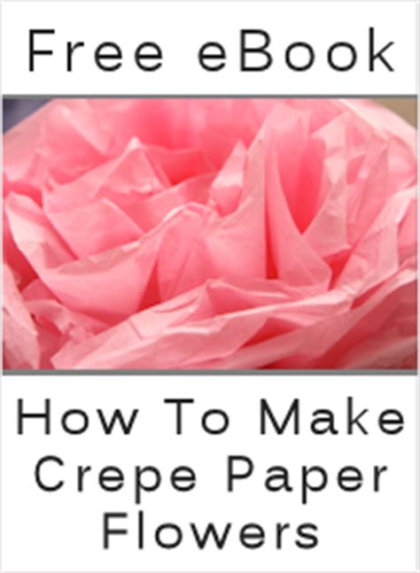 How To Make Crinkle Paper Flowers - 50 paper flower tutorials templates free tipnut
