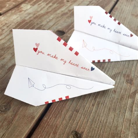 paper airplane valentines instant diy paper airplane paper