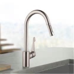 hansgrohe kitchen faucet hansgrohe cento kitchen faucet solid brass steel optik finish ebay