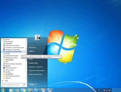 escritorio remoto windows 7 como habilitar el escritorio remoto para ayuda en windows