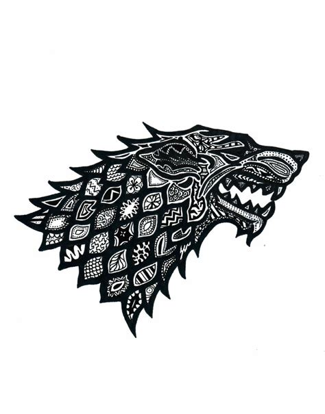 doodle of thrones best 20 house stark sigil ideas on of