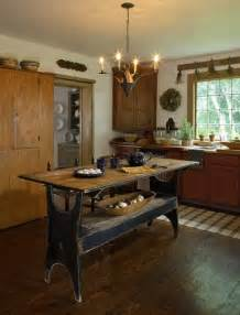 primitive kitchen islands primitive kitchen country antique decorating