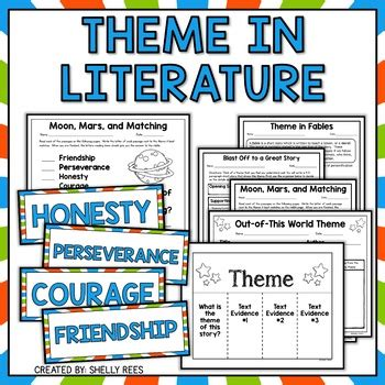 literature themes list elementary theme and teaching theme by shelly rees teachers pay