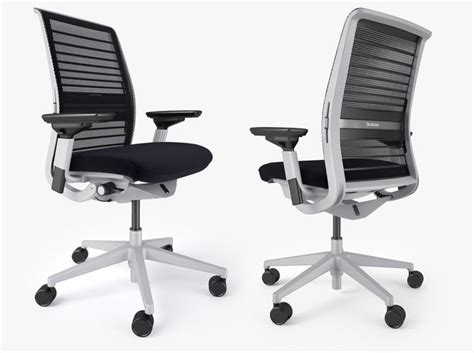 steelcase think office chair 3d model max obj fbx