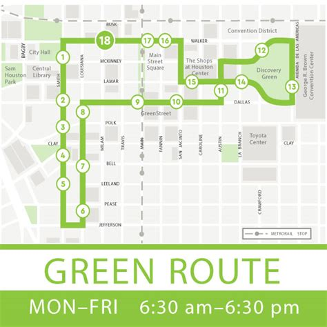 houston greenlink map getting around downtown houston