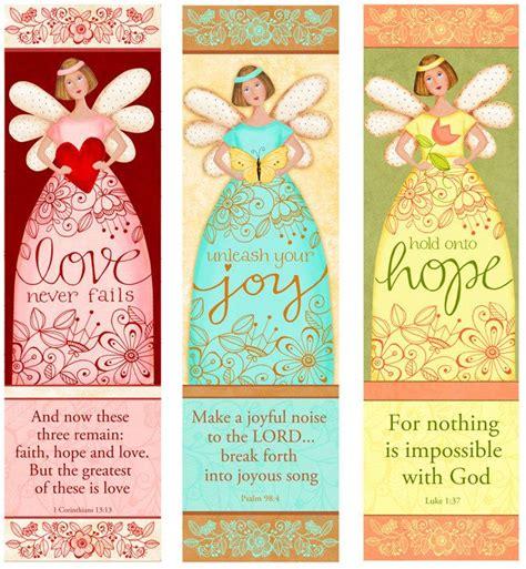 Free Printable Angel Bookmarks | angelic trio instant download love hope joy bible