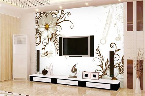 wide wallpaper home decor top living room flower printing wallpapers