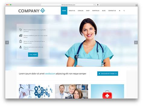 wordpress theme free hospital 20 best health and medical wordpress themes 2018 colorlib