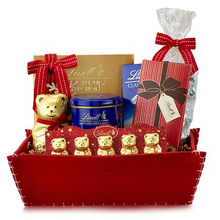 i wouldn t mind this lindt gift basket for christmas my