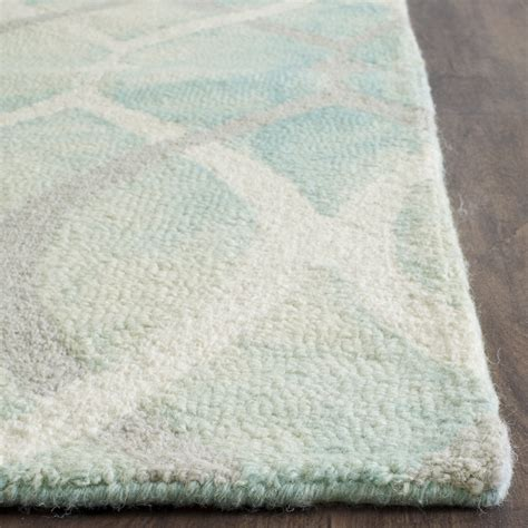 grey and green area rug bungalow castries tufted green ivory gray area rug reviews wayfair