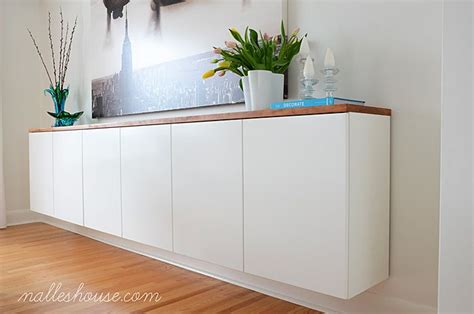 ikea sideboard hack nalle s house diy floating sideboard ikea hacks