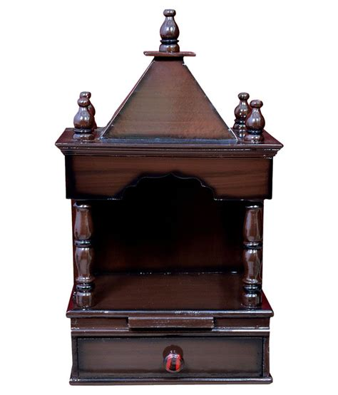 quality creations home temple pooja mandir wooden temple