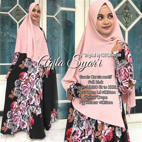 Maxi Dress Gamis Baju Muslim Wanita Dyna Jumbo Maxi gamis jumbo aqila syar i carzia baju muslim misbee