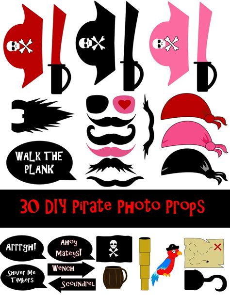 free printable photo booth props pirate 110 best party photo booth ideas images on pinterest