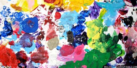 acrylic paint palette center baby photos