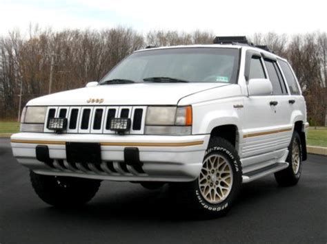 how to sell used cars 1994 jeep grand cherokee auto manual purchase used 1994 jeeo grand cherokee 4wd limited 5 2l v8 loaded w rare options 1 owner in