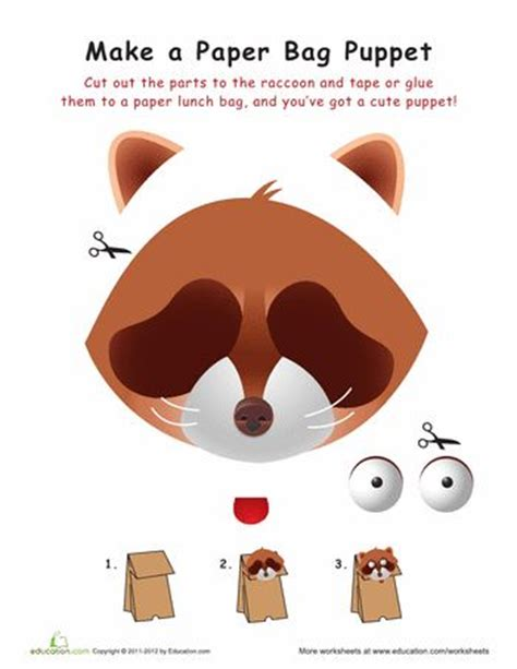 How To Make A Paper Fox Puppet - 17 best images about paper bag puppets on