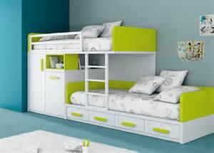 kid bed cama tren con modulo de puertas y la cama de abajo con 4
