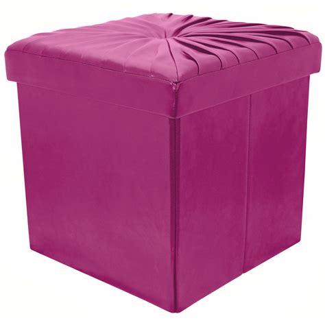 stool ottoman seat 38cm folding storage pouffe cube foot stool seat ottoman