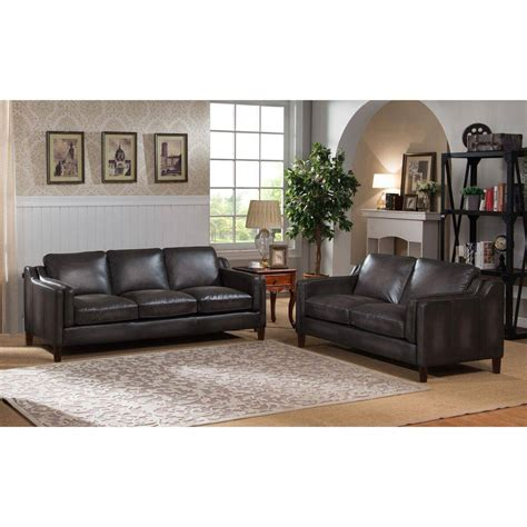 buy sofa and loveseat set buy amax ballari sofa and loveseat set 2 pcs in grey