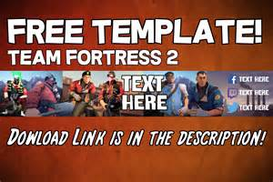free to use channel art template team fortress 2 youtube