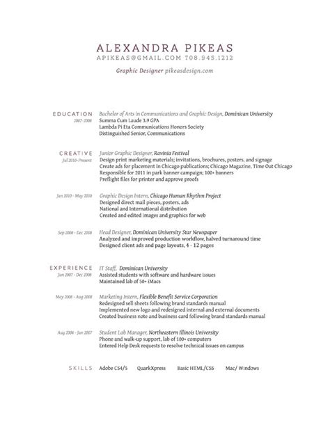 simple sle of resume clean lines resume design and inspiration