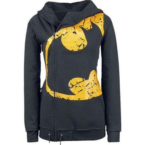 Pullover Hoodie Batman hoodie sweatshirt hooded batman print jumper zip pullover outwear coat top on luulla