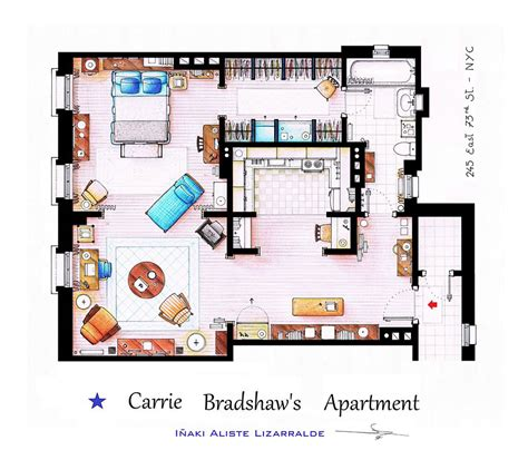 famous floor plans artist draws detailed floor plans of famous tv shows