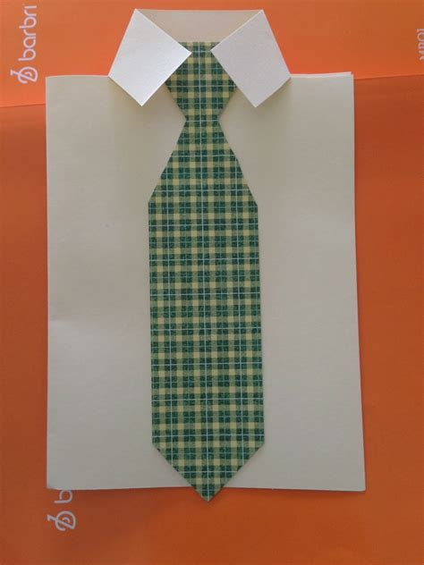 How To Make A Tie Out Of Paper - the crafty german s day shirt and tie card