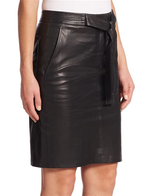 a l c abigail leather skirt in black lyst