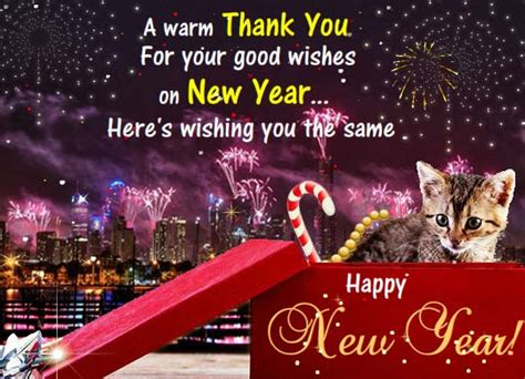 thank you for your new year wishes free thank you ecards